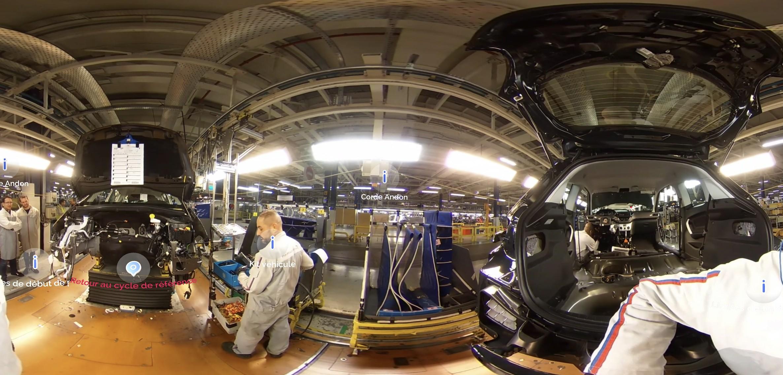 Ligne d'assemblage usine automobile