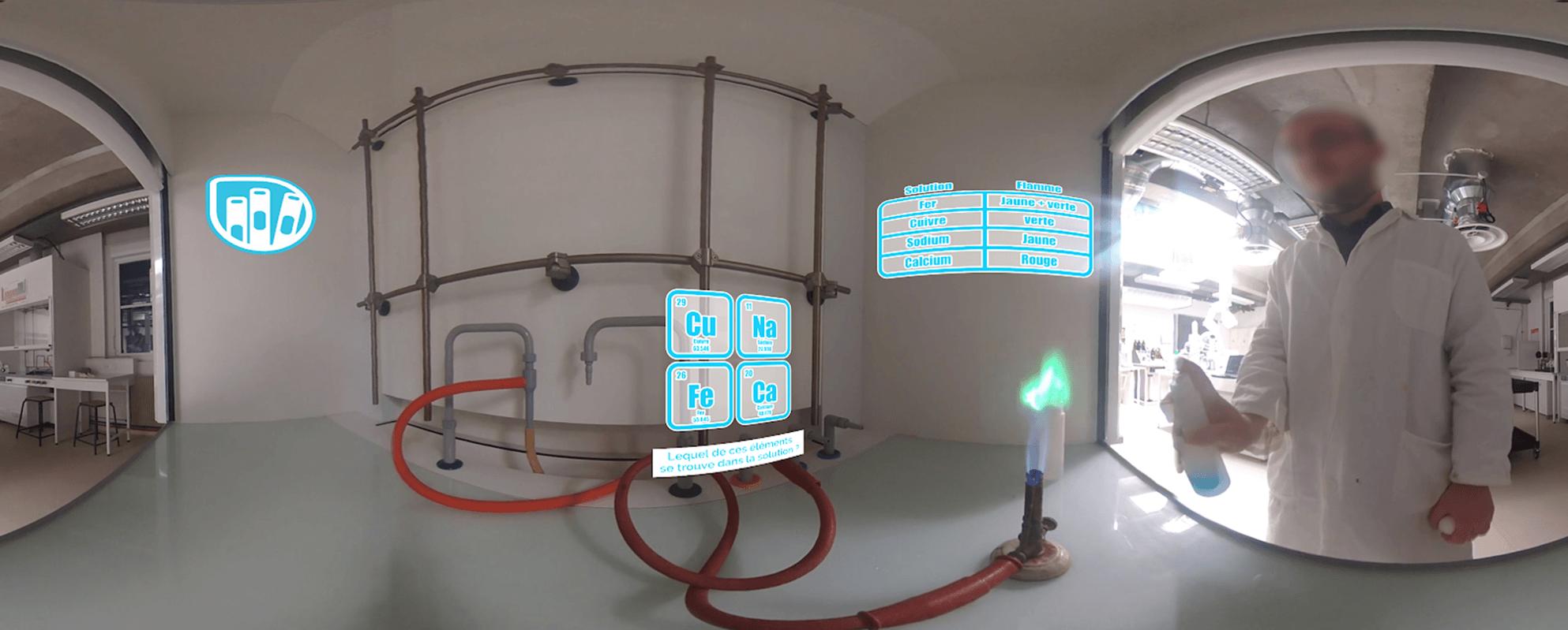 Exemple de formation dans un laboratoire de chimie